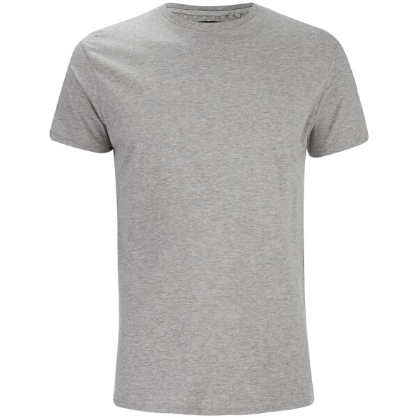 T-Shirt Homme William Col Rond Threadbare -Gris Chiné