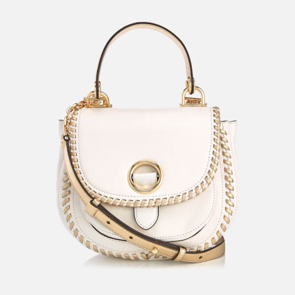 a1504f1650373d MICHAEL MICHAEL KORS Women's Isadore Medium Pebble Leather Messenger -  Optic White: Image 1