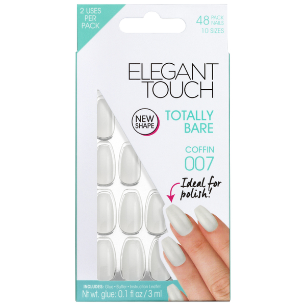 Elegant Touch Totally Bare Nails - Coffin 007