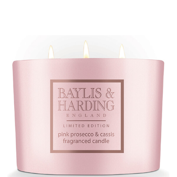 Baylis & Harding Pink Prosecco & Cassis 3 Wick Candle