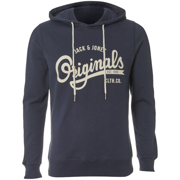Jack & Jones Originals Men's Hawl Logo Hoody - Total Eclipse