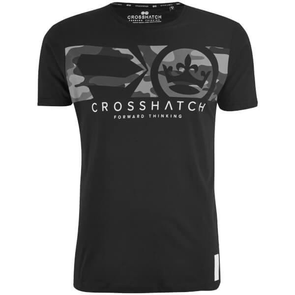 Crosshatch Men's Pleione Camo T-Shirt - Black