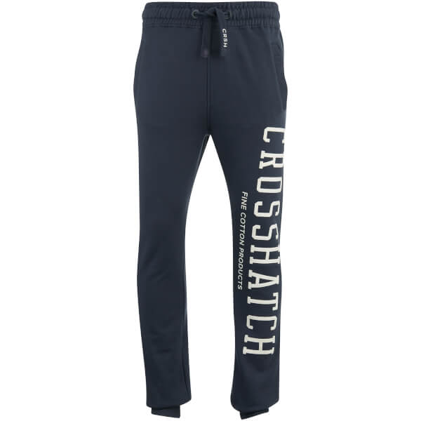 Crosshatch Men's Flunk Logo Sweatpants - Blue Night