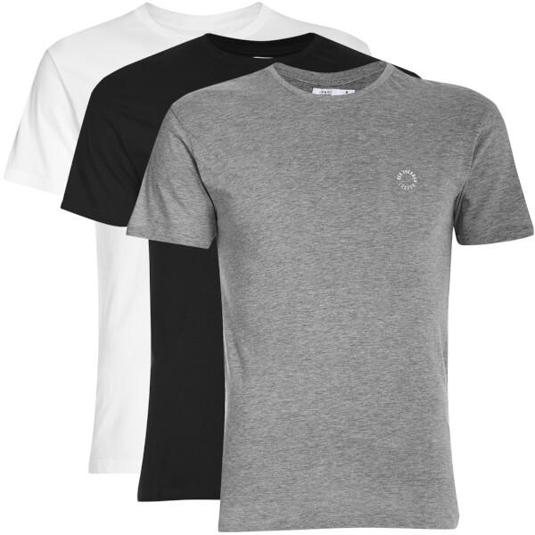 Ben Sherman Men's 3 Pack T-Shirt - Black/White/Grey