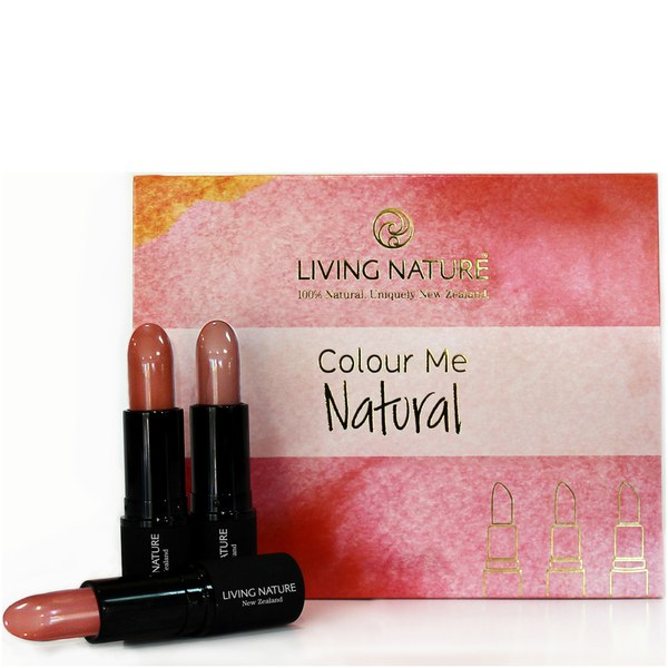 Living Nature Color Me Natural Lipstick Set - 3 Natural Shades