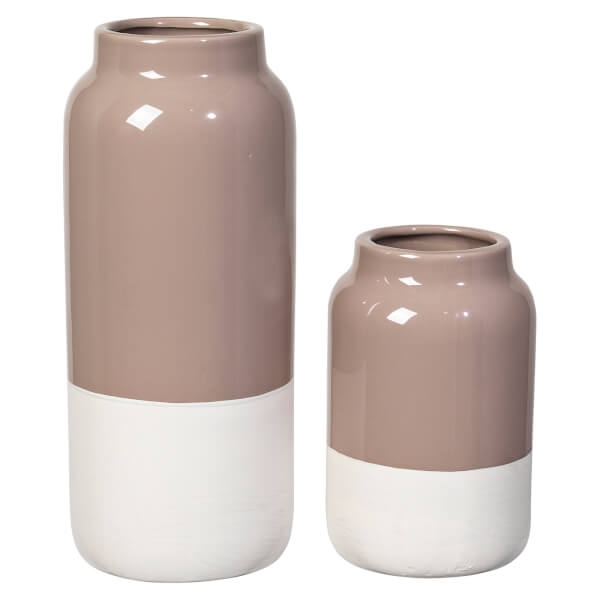 broste copenhagen raw stoneware vase set of 2 free uk delivery over 50. Black Bedroom Furniture Sets. Home Design Ideas