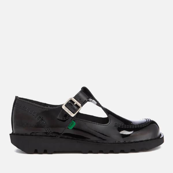 46063407ef Kickers Women's Kick Lo Aztec Patent T-Bar Shoes - Black | FREE UK Delivery  | Allsole