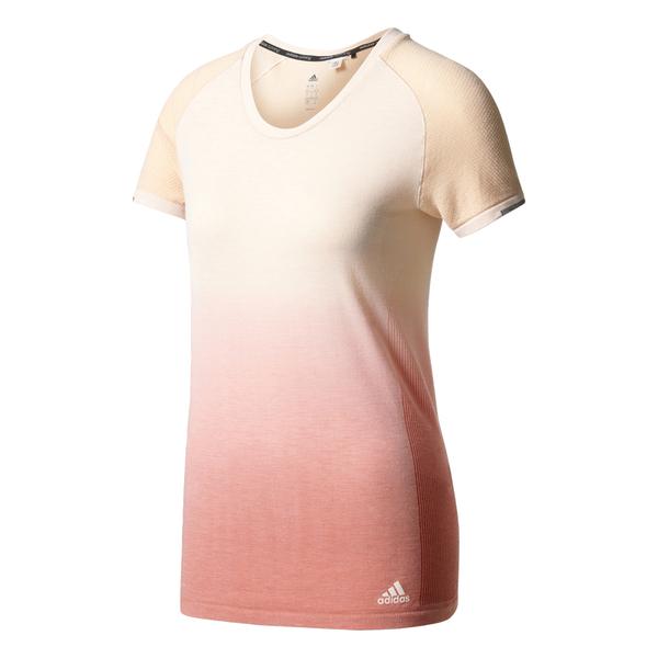 adidas Women s Primeknit Wool Dip-Dye Running T-Shirt - Easy Coral  Image f26dd7356