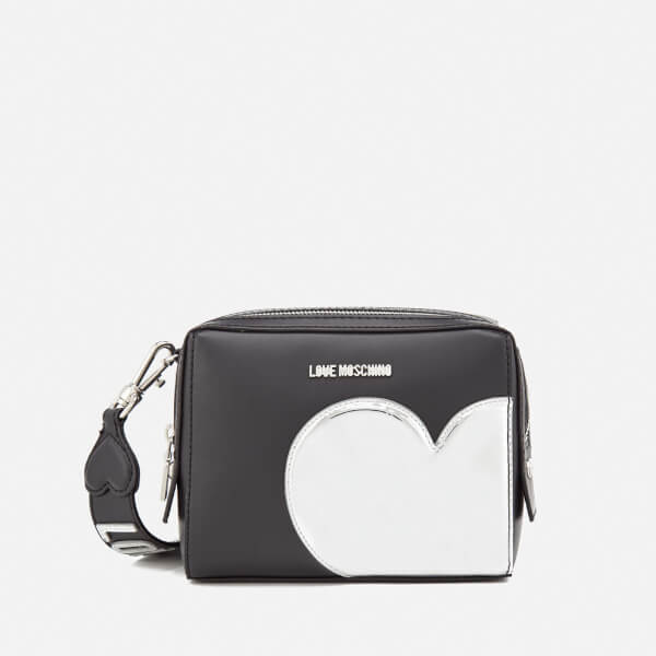 Love Moschino Women's Mirror Heart Camera Bag - Black