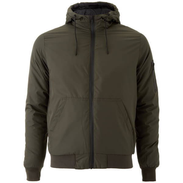 Brave Soul Men's Plutonium Hooded Jacket - Khaki