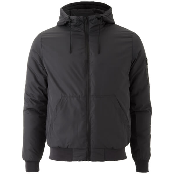 Brave Soul Men's Plutonium Hooded Jacket - Charcoal