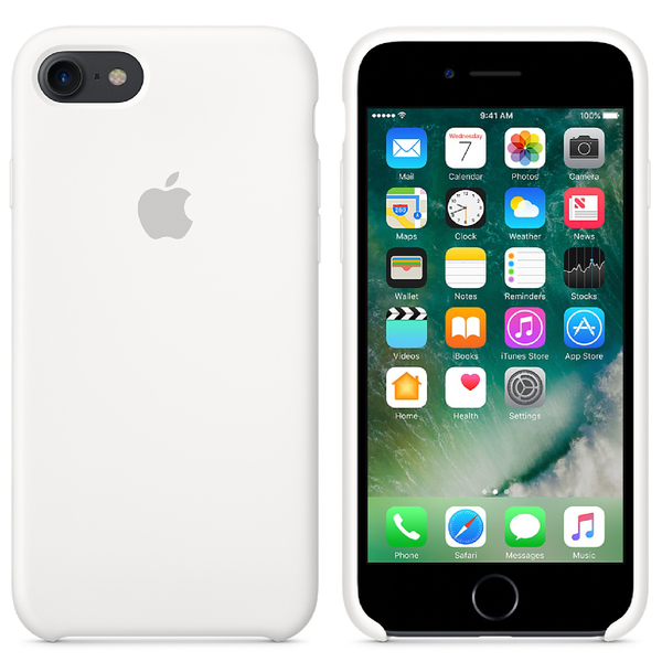 Apple iPhone 7 Silicone Case - White