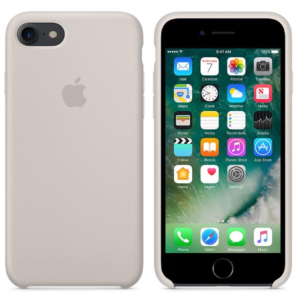 Étui en Silicone pour iPhone 7 -Gris Beige