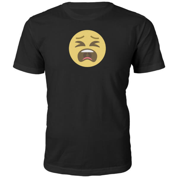 Emoji Unisex Tantrum Face T-Shirt - Black