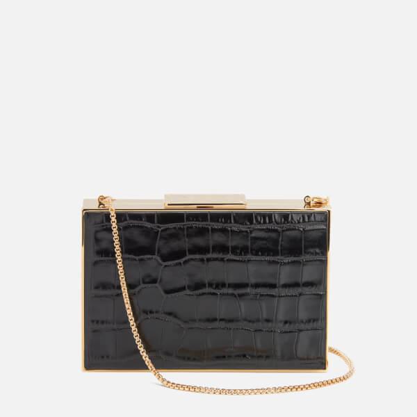Aspinal of London Women's Scarlett Box Clutch Bag - Black