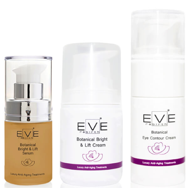 Eve Rebirth Botanical Bright & Lift Serum + Botanical Bright & Lift Cream + Botanical Eye Contour Cream