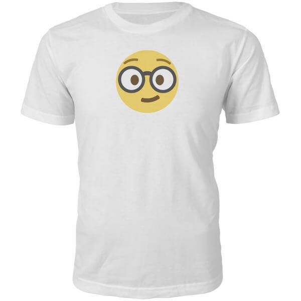 Emoji Unisex Nerd Face T-Shirt - White