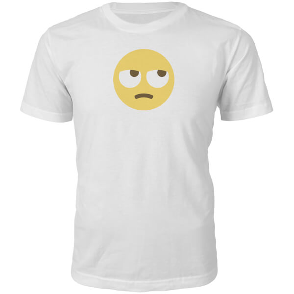 Emoji Unisex Eye Roll Face T-Shirt - White