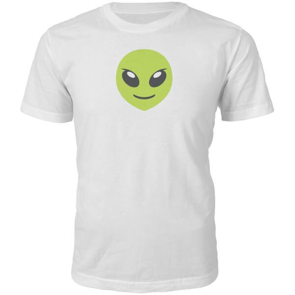 T-Shirt Unisexe Emoji Alien -Blanc