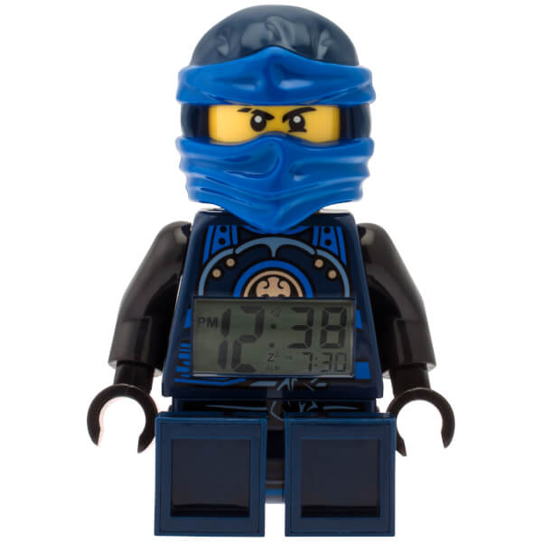 lego ninjago ime twins jay minifiguren uhr mit wecker. Black Bedroom Furniture Sets. Home Design Ideas