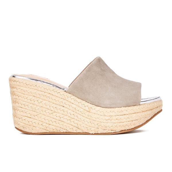 Carvela Women's Kell Suede Espadrille Mule Flatform Sandals - Grey