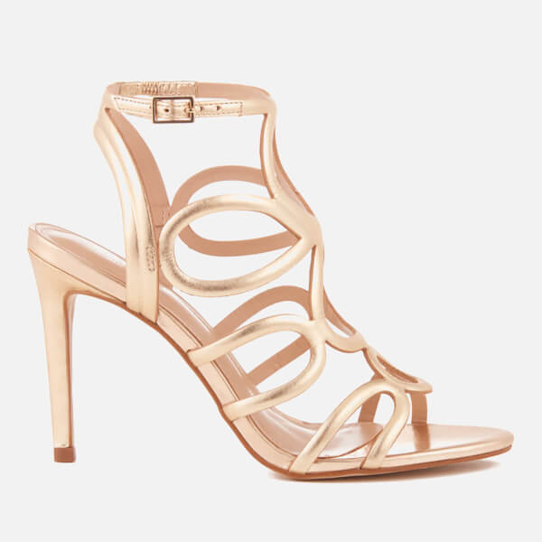 7abb48be37ff Carvela Women s Gabby Leather Strappy Heeled Sandals - Gold  Image 1