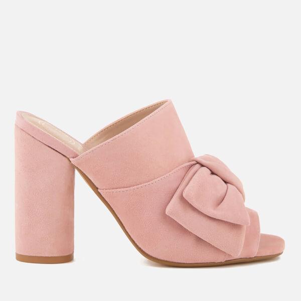 KG Kurt Geiger Women's Jessika Suede Heeled Mule Sandals - Pink