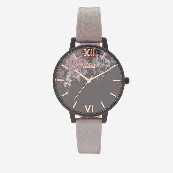Olivia Burton Women's After Dark Watch - Grey/Lilac IP Black