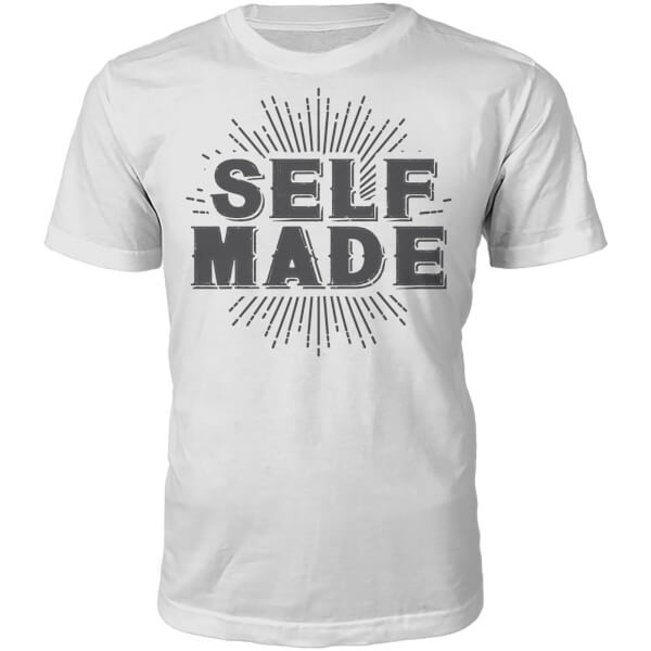 Self Made Slogan T-Shirt - White