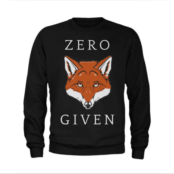 Zero Fox Given Slogan Sweatshirt - Black