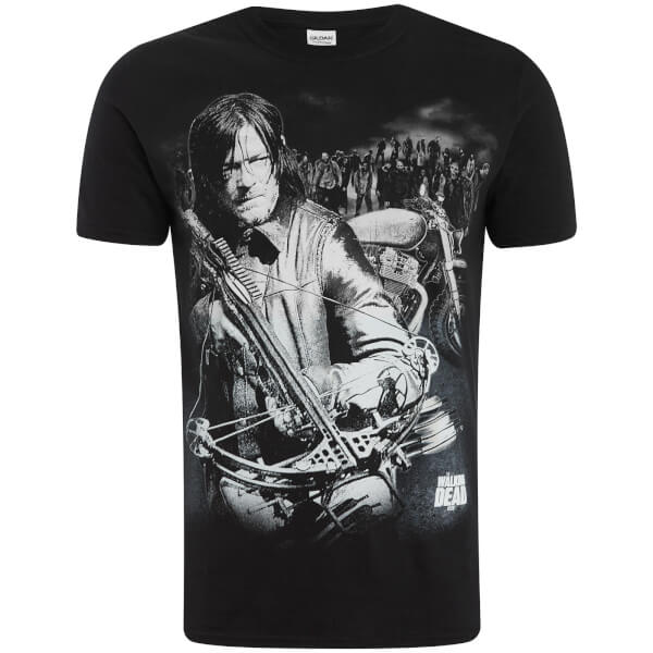 Walking Dead Men's Dixon Crossbow T-Shirt - Black