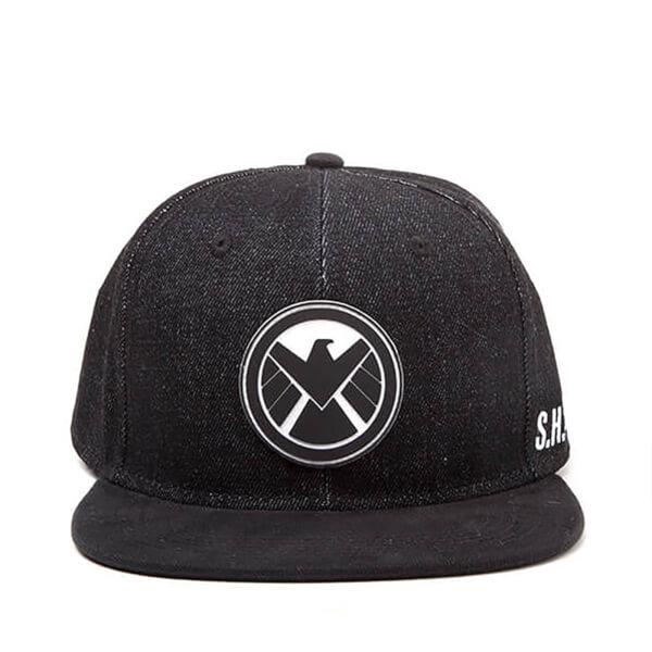 Marvel The Avengers Shield Logo Snapback Cap - Black