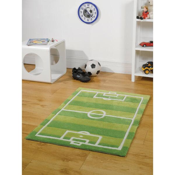 Tapis Flair Kiddy Play Rugs - Terrain de Football (110X160)