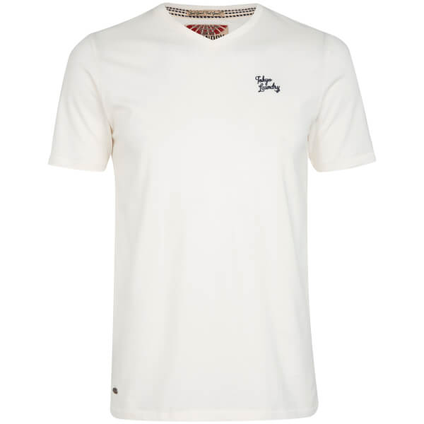 T-Shirt Homme Essential Col V Tokyo Laundry -Blanc Ivoire