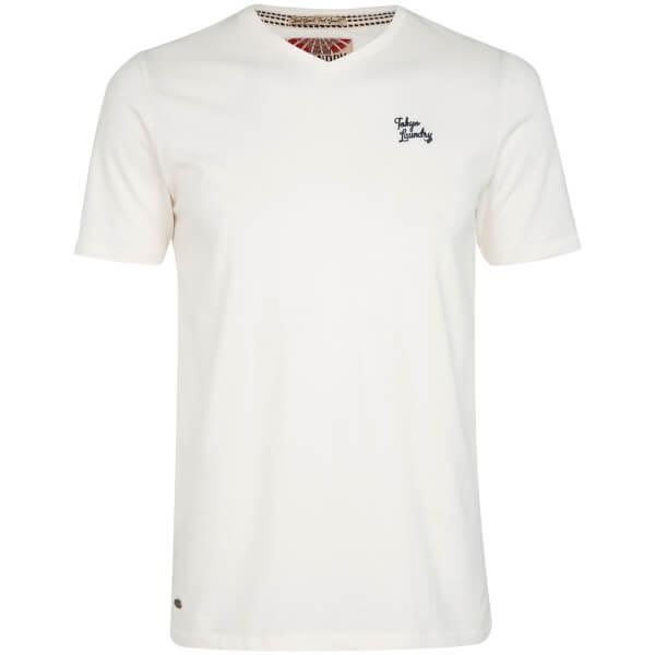 Tokyo Laundry Men's Essential V Neck T-Shirt - Ivory White