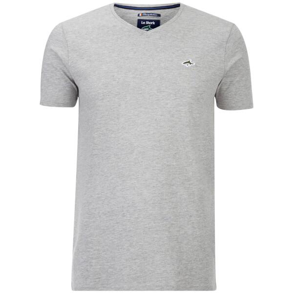 Le Shark Men's Glasshouse V Neck T-Shirt - Light Grey Marl
