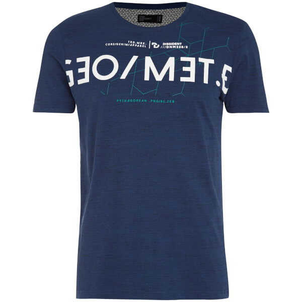 Dissident Men's Octagon T-Shirt - Reflex Blue