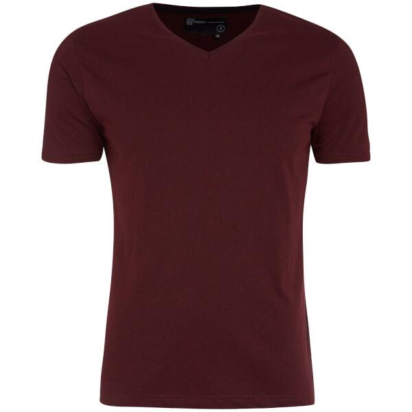 Dissident Men's Guilford V-Neck T-Shirt - Oxblood Red