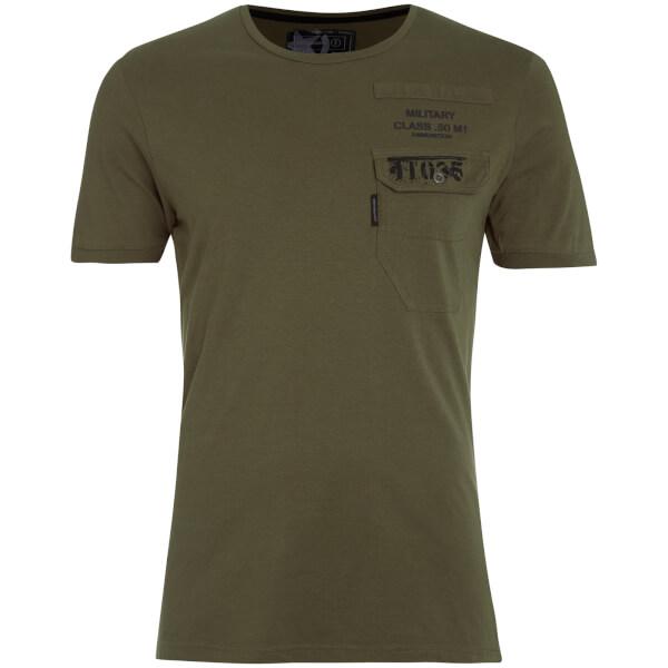 T-Shirt Homme Millcare Poche Dissident - Kaki