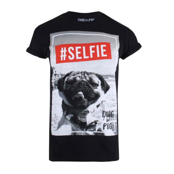 Doug The Pug Women's Selfie T-Shirt - Black