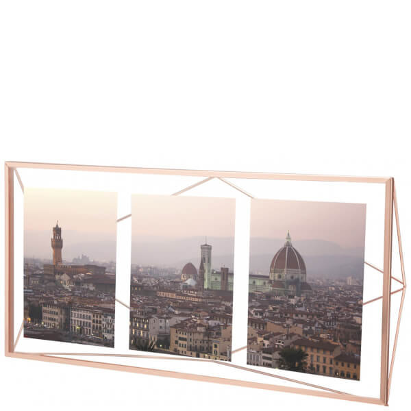 Umbra Prisma Three Photo Frame Display - Copper