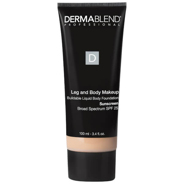 Dermablend Leg and Body Make-Up Liquid Foundation with SPF25 for Medium Coverage and All-day Hydration (Various Shades)