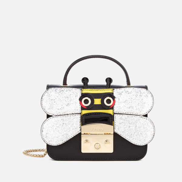 Furla Women's Metropolis Doodle Mini Top Handle Bag - Black/Silver