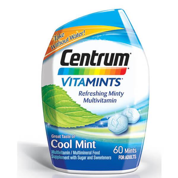 Centrum VitaMint Cool Mint Tablets (60 Tablets)