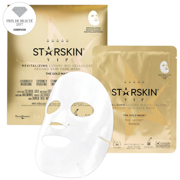 STARSKIN The Gold Mask™ VIP Revitalizing Luxury Coconut Bio-Cellulose Second Skin Face Mask