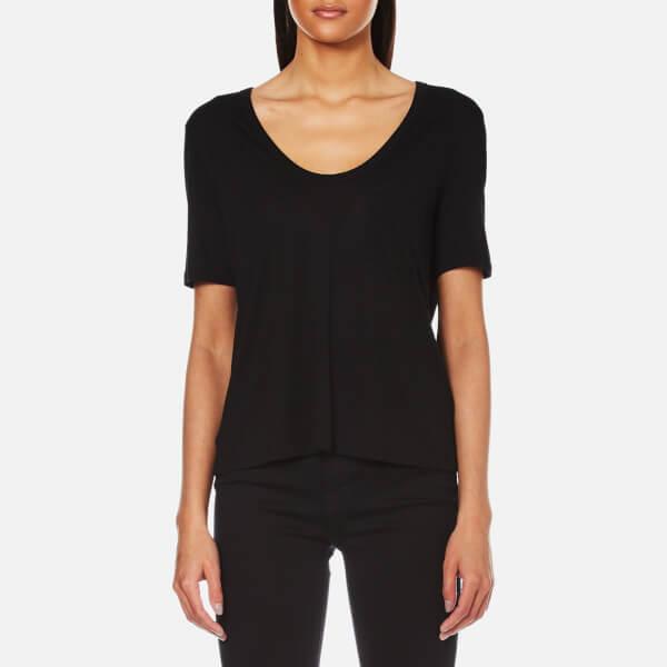 T by Alexander Wang Women's Classic Cropped T-Shirt - Black