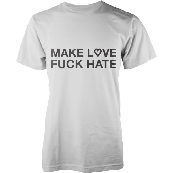 T-Shirt Homme Love/Hate -Blanc