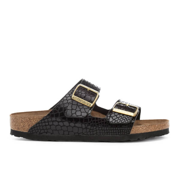 Birkenstock Serpent À Effet Sandales À Double Sangle - Noir pOqcmF