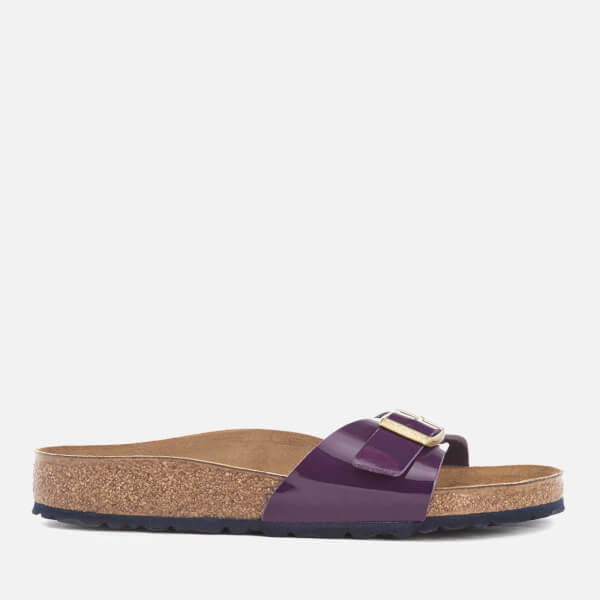 Birkenstock Women's Madrid Patent Slim Fit Single Strap Sandals - Lilac