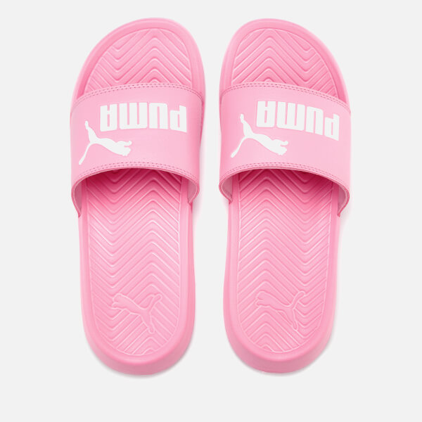 Puma Women s Popcat Slide Sandals - Pink White - Free UK Delivery ... bdae1ab7d